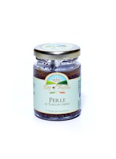 Pearls of black summer truffle